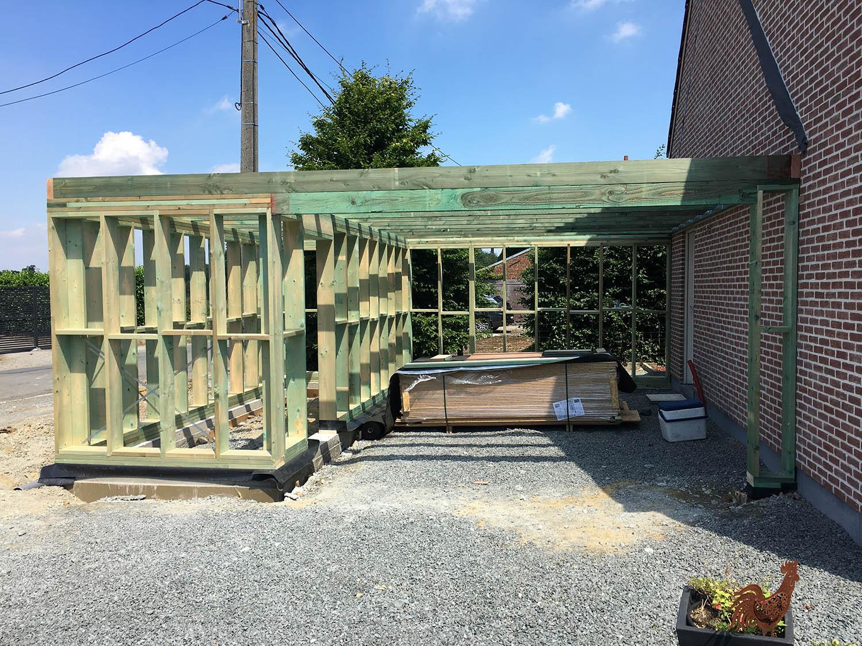 construction et pose d un carport 50 nuances de vert. Black Bedroom Furniture Sets. Home Design Ideas